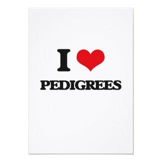 I Love Pedigrees 5x7 Paper Invitation Card