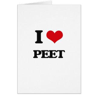 I Love Peet Greeting Card