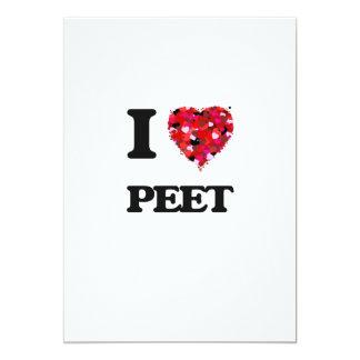 I Love Peet 5x7 Paper Invitation Card