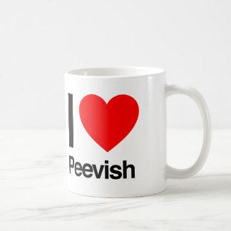i love peevish coffee mug