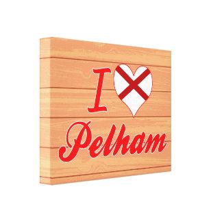 I Love Pelham, Alabama Stretched Canvas Print