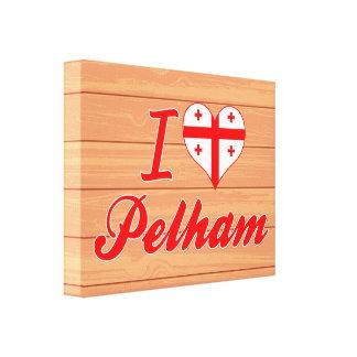 I Love Pelham, Georgia Stretched Canvas Print