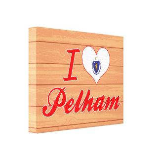 I Love Pelham, Massachusetts Gallery Wrap Canvas