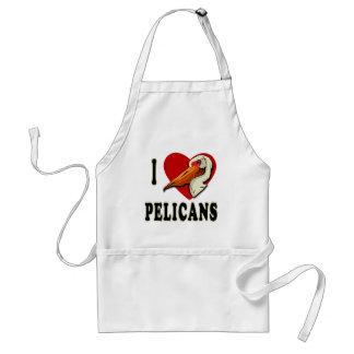 I Love Pelicans T-shirts, Kids Apparel Adult Apron