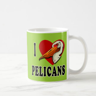 I Love Pelicans T-shirts, Kids Apparel Coffee Mug
