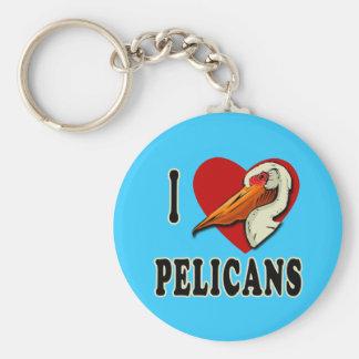 I Love Pelicans T-shirts, Kids Apparel Basic Round Button Keychain