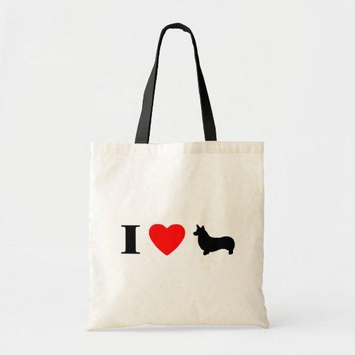 I Love Pembroke Welsh Corgis Bag