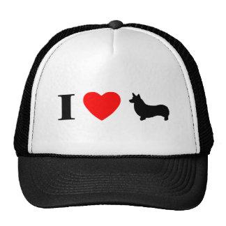I Love Pembroke Welsh Corgis Hat