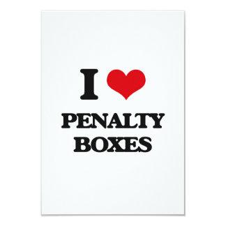 I Love Penalty Boxes Invitation Card