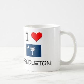 I Love Pendleton South Carolina Classic White Coffee Mug