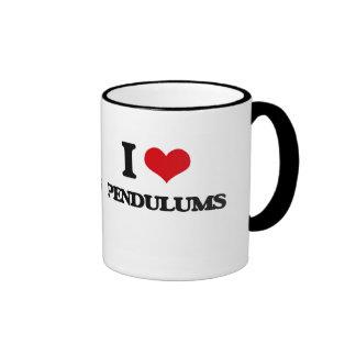 I Love Pendulums Ringer Coffee Mug