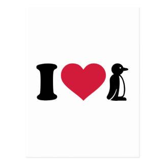 I love Penguin Postcard
