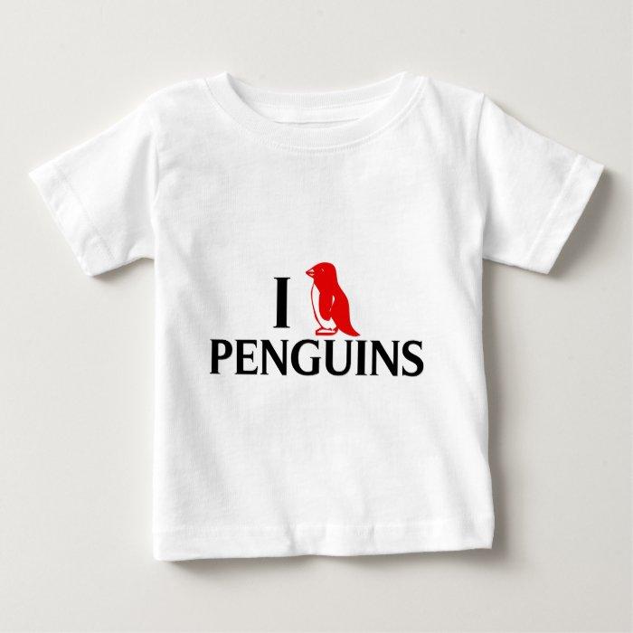 I Love Penguins Baby T-Shirt