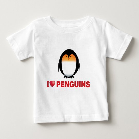 i love penguins baby T-Shirt