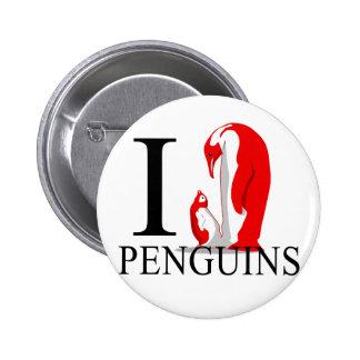 I Love Penguins Buttons