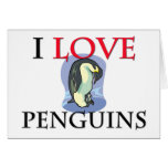 I Love Penguins Card
