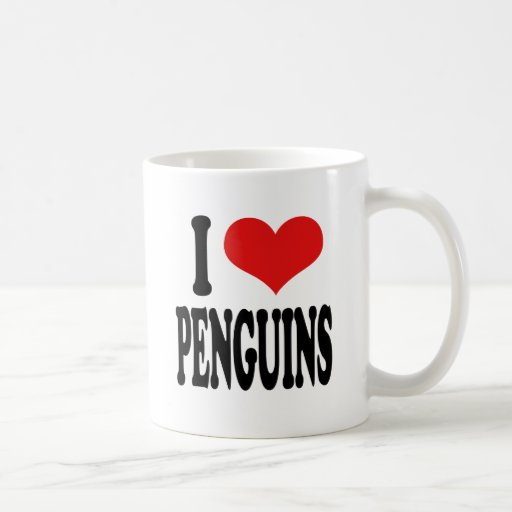 I Love Penguins Coffee Mug