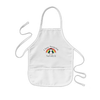 I love penguins deal with it kids' apron