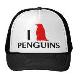 I Love Penguins Hat