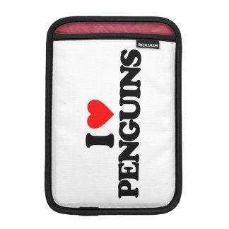 I LOVE PENGUINS iPad MINI SLEEVE