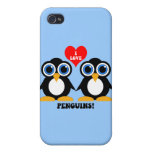 I love penguins iPhone 4 covers