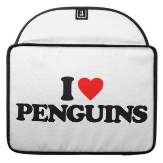 I LOVE PENGUINS SLEEVES FOR MacBooks