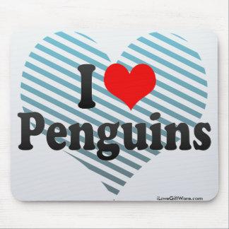 I Love Penguins Mousepads