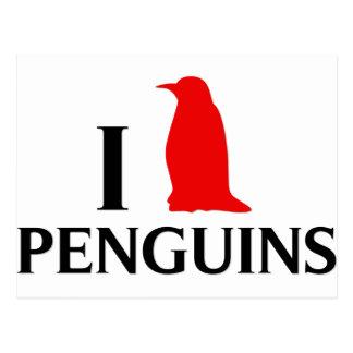 I Love Penguins Postcard