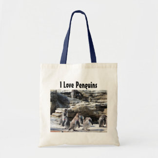 I Love Penguins Tote Bag