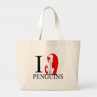 I Love Penguins Tote Bags