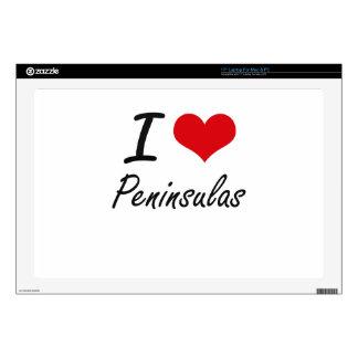"""I Love Peninsulas Skins For 17"""" Laptops"""