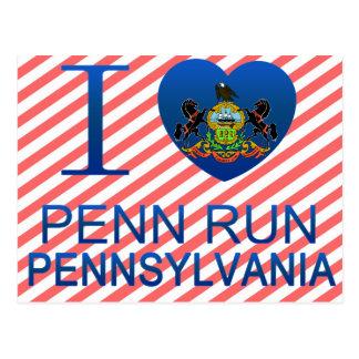 I Love Penn Run, PA Postcard