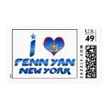 I love Penn Yan, New York Postage Stamp