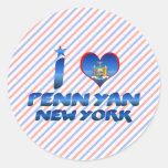 I love Penn Yan, New York Stickers
