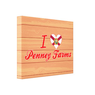 I Love Penney Farms, Florida Gallery Wrap Canvas