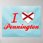 I Love Pennington, Alabama Posters