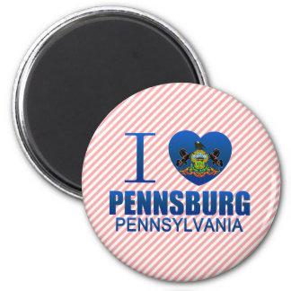 I Love Pennsburg PA Fridge Magnet