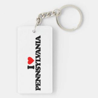 I LOVE PENNSYLVANIA ACRYLIC KEYCHAINS
