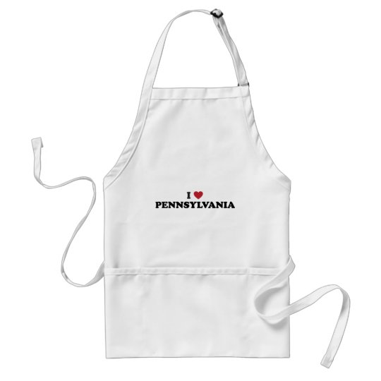 I Love Pennsylvania Adult Apron