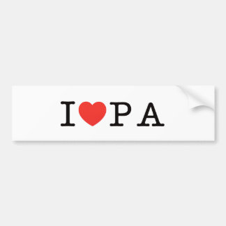 I LOVE Pennsylvania Bumper Stickers