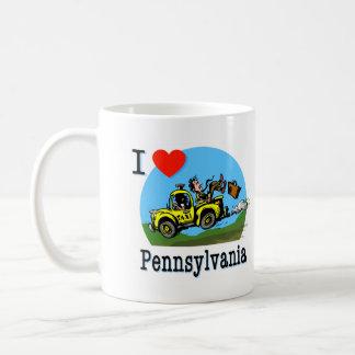 I Love Pennsylvania Country Taxi Coffee Mug