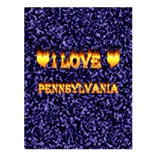 I love pennsylvania fire and flames postcard