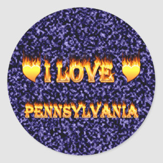 I love pennsylvania fire and flames sticker