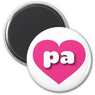 I love Pennsylvania hot pink heart Fridge Magnets