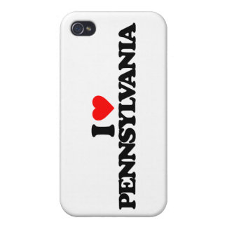 I LOVE PENNSYLVANIA iPhone 4 COVERS