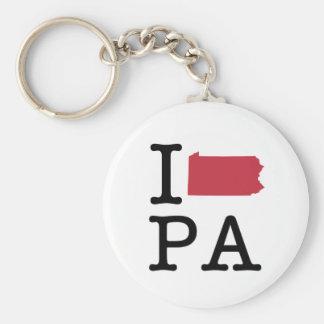 I Love Pennsylvania Key Chains