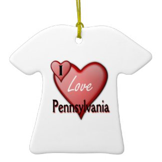 I Love Pennsylvania ornament