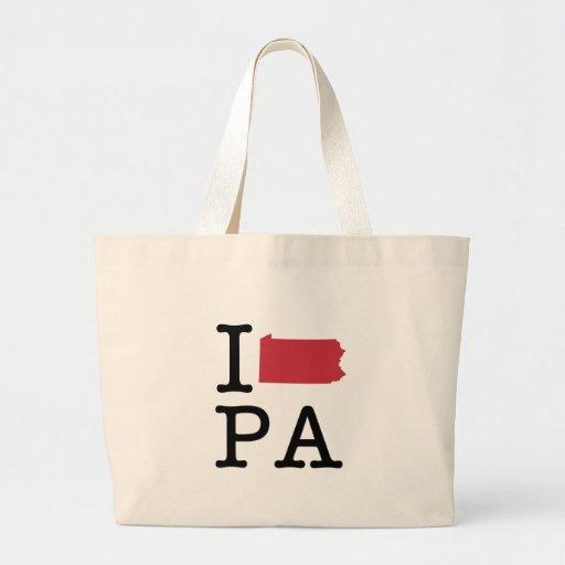 I Love Pennsylvania Tote Bags