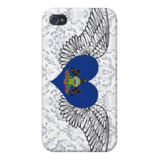 I Love Pennsylvania -wings iPhone 4 Covers