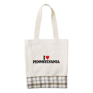 I LOVE PENNSYLVANIA ZAZZLE HEART TOTE BAG